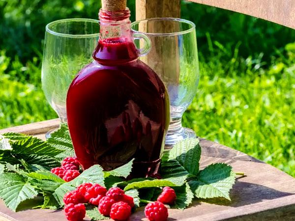 Вино из малины: рецепт с фото