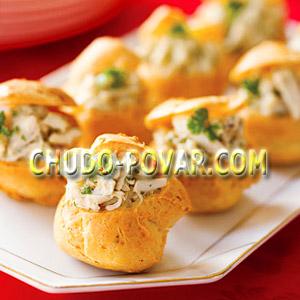 Холодная закуска с грибами для фуршетной вечеринки