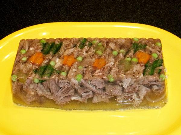 заливное из говядины рецепт с фото