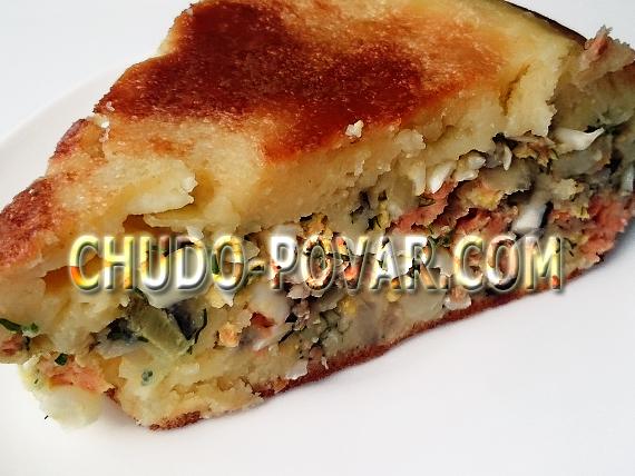 заливной пирог рецепт с фото