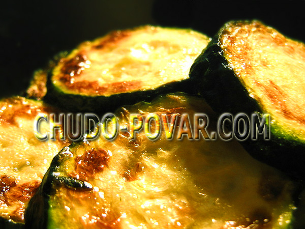 Жареные кабачки с чесноком рецепт