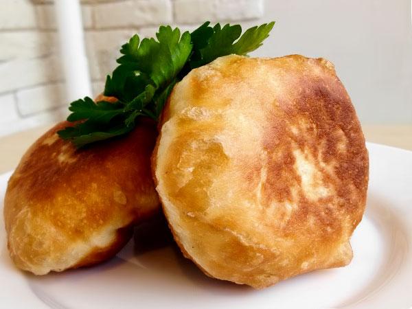 пирожки из картошки с мясом на сковороде рецепт