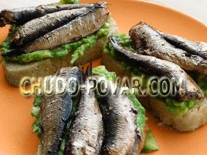 бутерброды со шпротами рецепт с фото