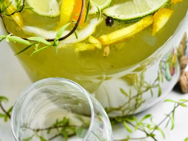 настойка сока берёзы с апельсином и лимоном