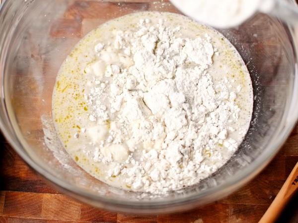 фото приготовления тесто для пиццы с сухими дрожжами шаг 6
