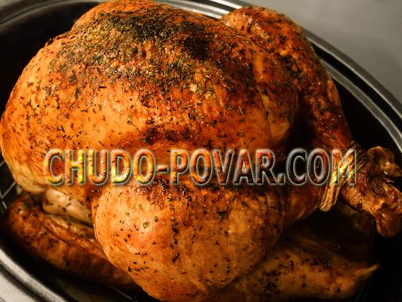 рецепт целой курицы в рукаве в духовке с фото