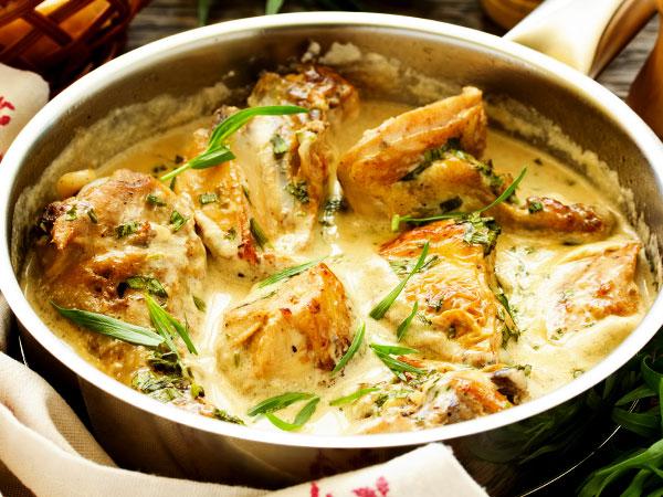 мясо в белом соусе рецепт с фото
