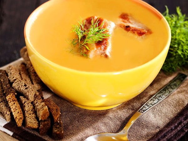 гороховый суп с копчёными рёбрышками рецепт с фото