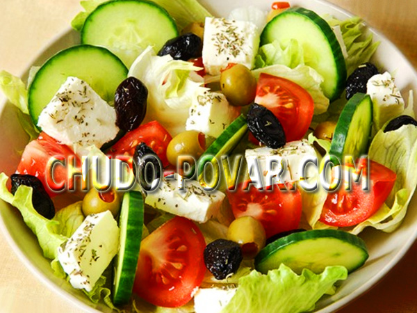 рецепт салата цезарь с брынзой и оливками