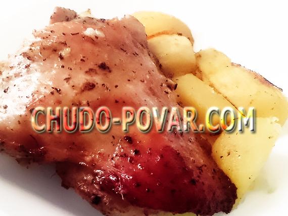 индейка в мультиварке с картошкой