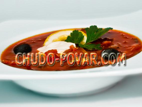 суп солянка рецепт с фото
