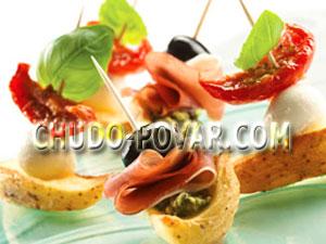 Канапе рецепты на шпажках с фото