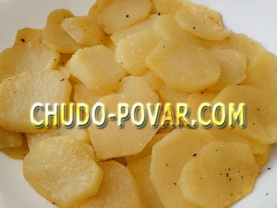Быстрая картошка в микроволновке