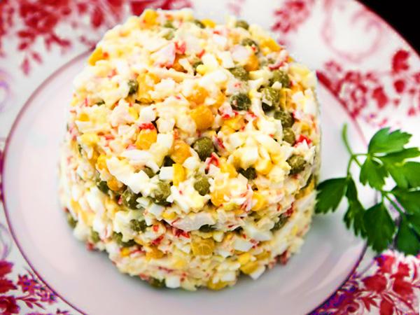 Салат крабовый классический рецепт с фото