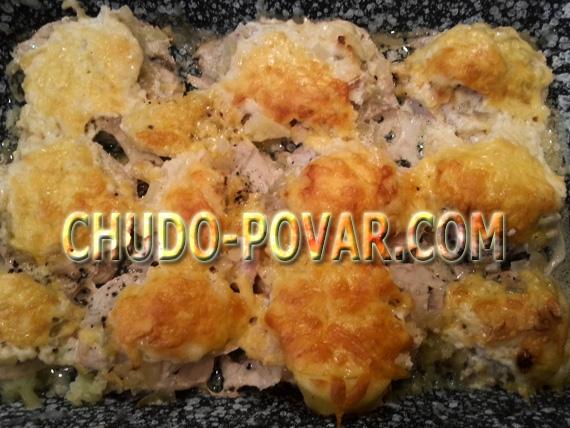 Пельмени под сыром с духовке рецепт