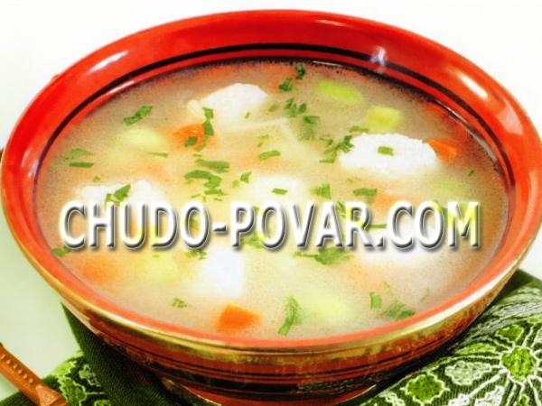 Суп с клецками рецепт постный