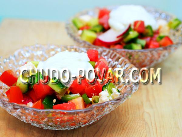 летний салат рецепт с фото