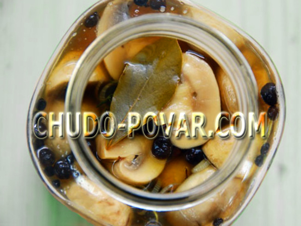 маринованные грибы рецепт с фото
