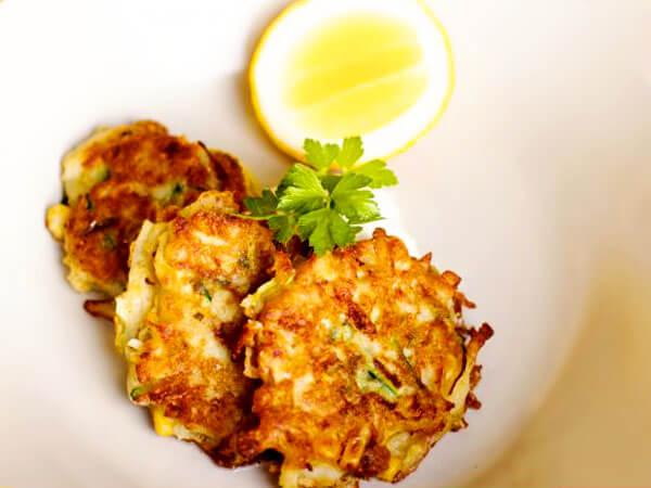 Оладьи из кабачков картошки и сыра