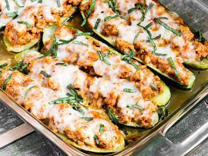 кабачки фаршированные курицей запечённые в духовке