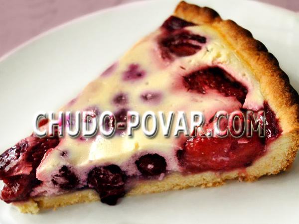 пирог со сливами рецепт с фото