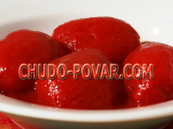 помидоры в собственном соку рецепт с фото