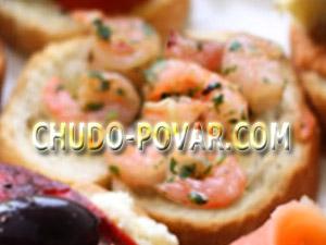 Бутерброды для праздничного стола с креветками рецепт с фото