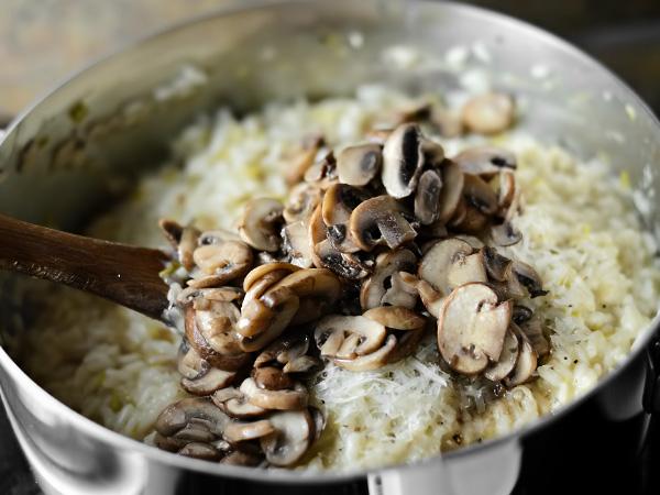 Ризотто с сыром и грибами