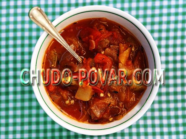 рецепт салату з помідорів на зиму