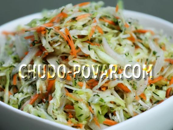 Рецепт легкого салата со свежей капустой