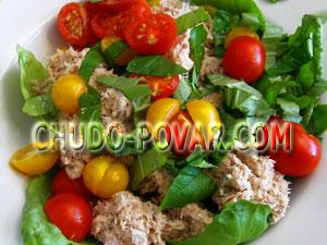 быстрый салат с тунцом консервированным рецепт