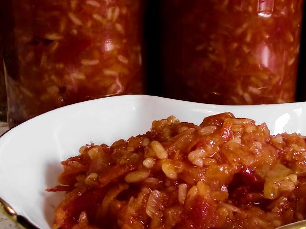 салат с рисом на зиму рецепт с фото