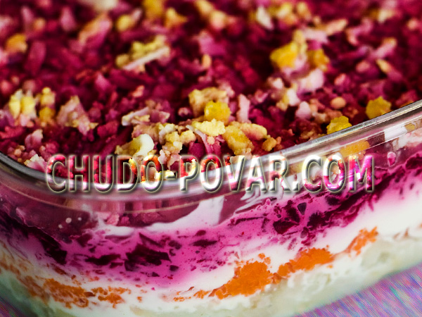салат со сметаной рецепт простой