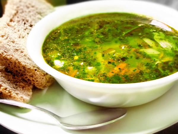 рецепт щавелевого супа с тушенкой с фото