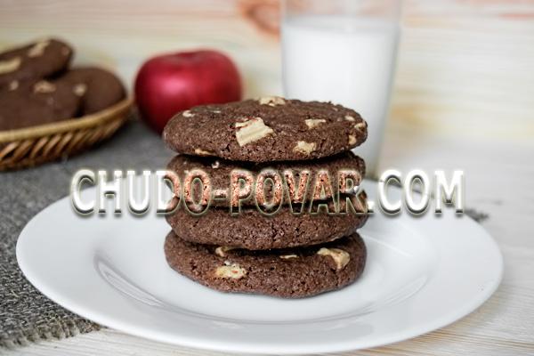 приготовление печенье с кусочками шоколада рецепт с фото
