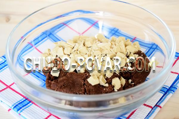 фото приготовления печенье с кусочками шоколада шаг 6