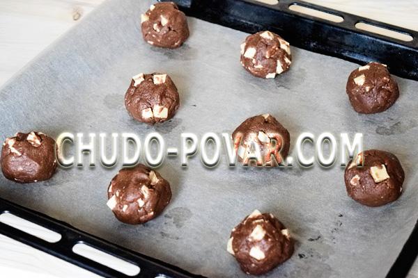 фото приготовления печенье с кусочками шоколада шаг 7