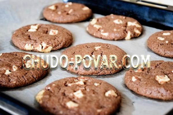 фото приготовления печенье с кусочками шоколада шаг 8
