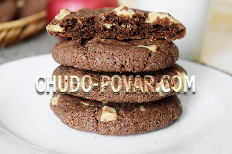 Смотреть Печенье с черным шоколадом: оригинальный рецепт видео