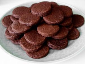 Шоколадное печенье из песочного теста без яиц