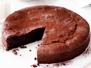Шоколадный торт без муки и без сахара