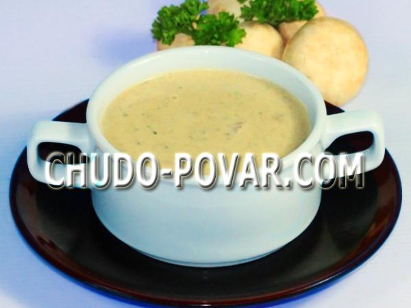 грибной крем суп с шампиньонами со сливками рецепт