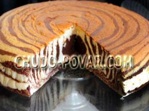 торт зебра рецепт c фотографиями