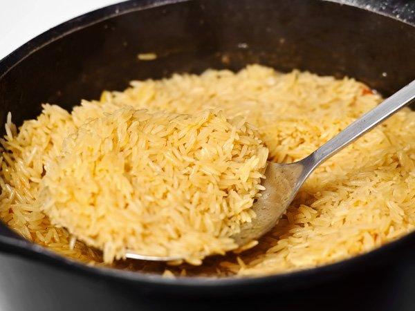 как приготовить рассыпчатый рис в казане