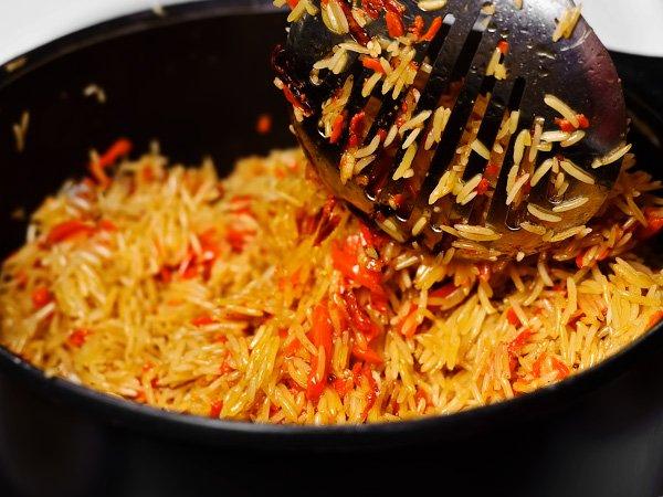 перемешиваем зирвак с рисом