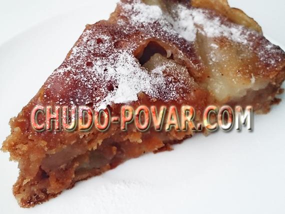 яблочный пирог в мультиварке рецепт с фото