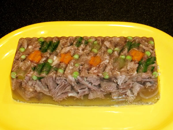 заливное из мяса с желатином рецепт