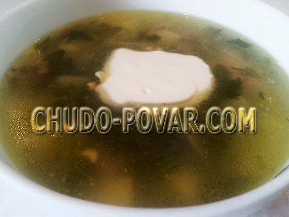 зеленый борщ со щавелем рецепт с фото