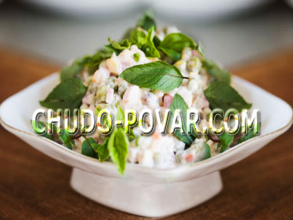 рецепт зимний салат с мясом и
